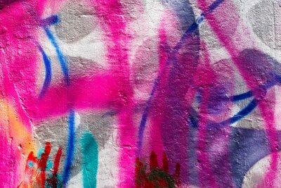 Plakat Grunge malowane ściany