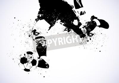 Plakat Grunge Plakat piłkarski
