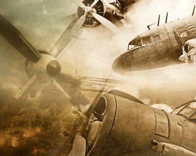 Plakat Grunge retro lotnictwa