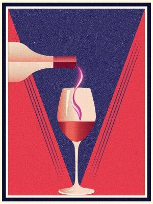 Plakat Grunge retro wine banner