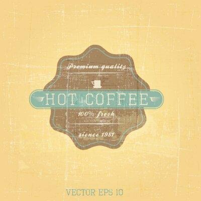Plakat Grunge retro wytwórnię kawy. Wektor
