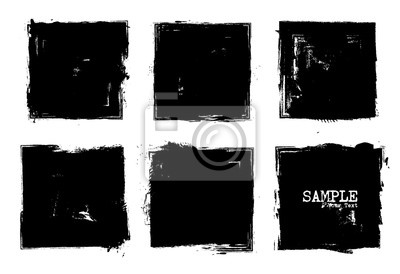 Plakat Grunge style set of square shapes . Vector