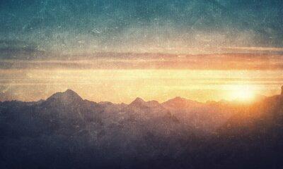 Plakat Grunge stylu krajobrazowego