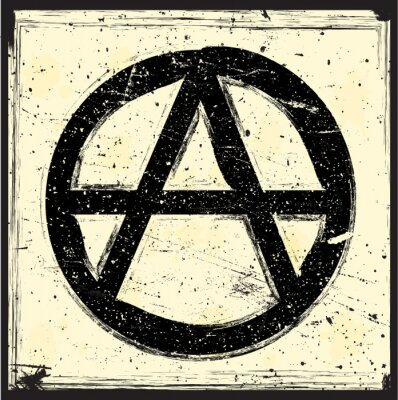 Plakat grunge symbol anarchii