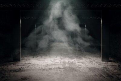Plakat Grungy ciemne wnętrze