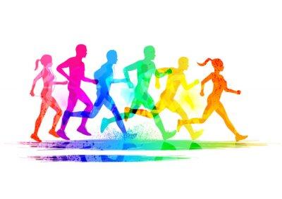 Plakat Grupa biegaczy