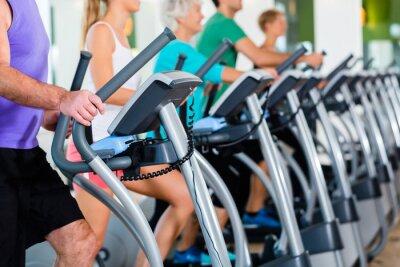 Plakat Gruppe mit Senioren auf krokowy im Fitnessstudio