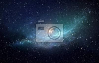 Plakat Gwiazda pola i mgławica w kosmosie