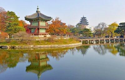 Plakat Gyeongbokgung Palace, Seul, Korea Południowa