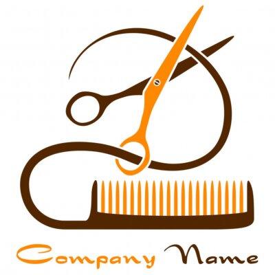 Plakat Haarschnitt - Firmenzeichen