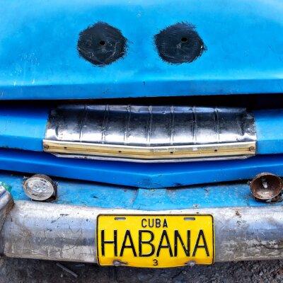 Plakat Habana Cuba, numer rejestracyjny