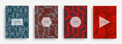 Plakat Halftone shapes business catalog covers vector design.
