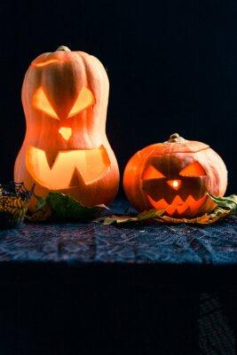 Halloweenowa fotografia dwa bani i gałki oczne