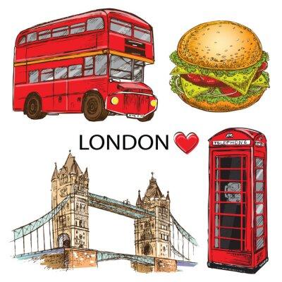 Plakat hand drawn London set