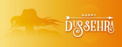 Plakat happy dussehra traditional golden banner design
