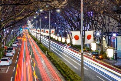 Plakat Harajuku, Tokio, Japonia Noc ruchu