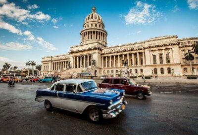 Plakat Hawana, Kuba -, 7. czerwca . budynek stolicy Kuby, 7. 2011 .