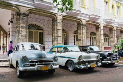 Plakat Hawana, Kuba. Ulica sceny.