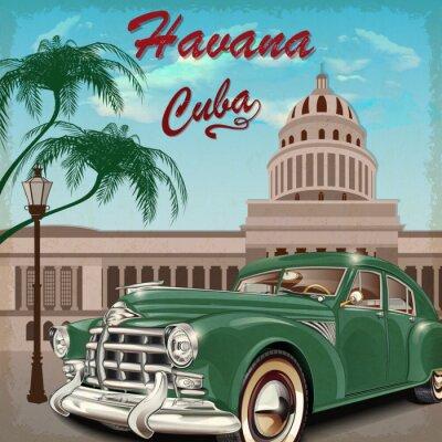 Plakat Hawański plakat retro.