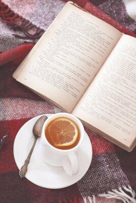 Plakat Herbata i czytanie