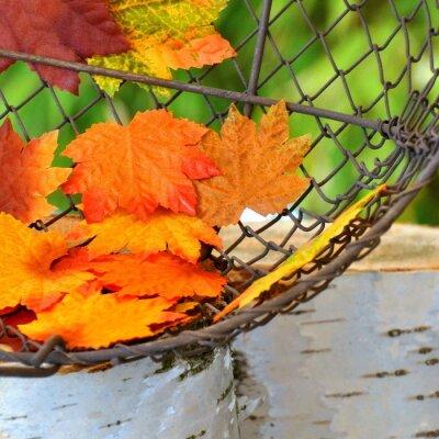 Plakat Herbstblätter