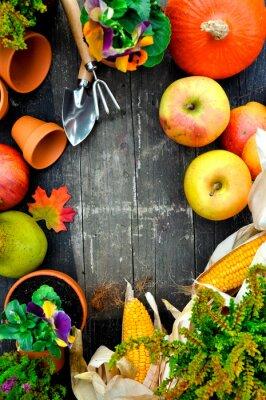 Plakat Herbstfrüchte