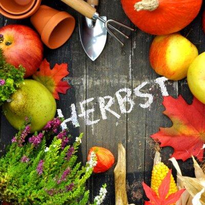 Plakat Herbstzeit