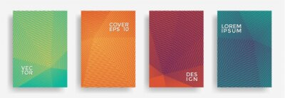 Plakat Hexagonal halftone pattern cover pages vector creative design.