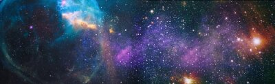 Plakat High quality space background. Elements of this image furnished by NASA.