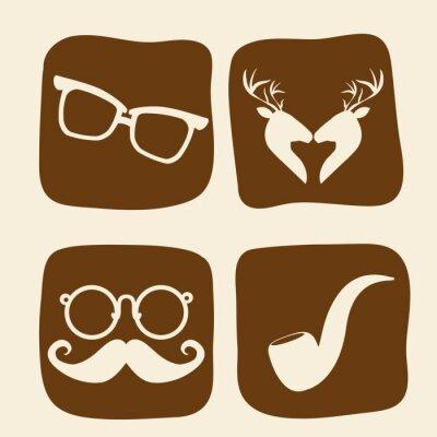 Plakat Hipster design w stylu