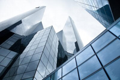 Plakat Hochhäuser - Banken