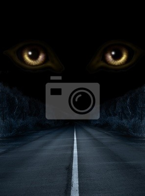 Plakat Horror w nocy