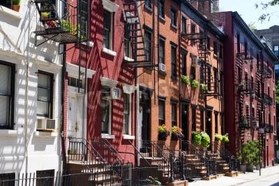 Plakat Houses on Gay Street, Greenwich Village New York City
