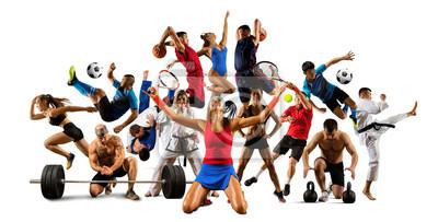 Plakat Huge multi sports collage taekwondo, tennis, soccer, basketball, etc