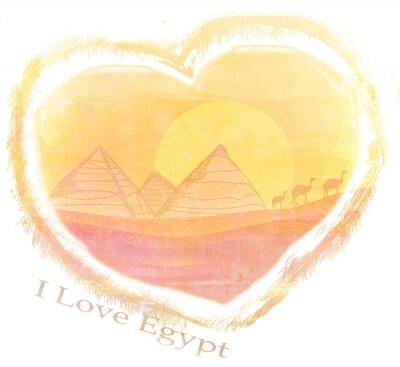 Plakat I Love Egypt design