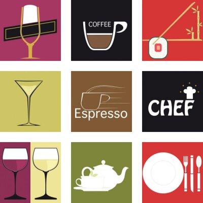 Plakat Icone par la gastronomia