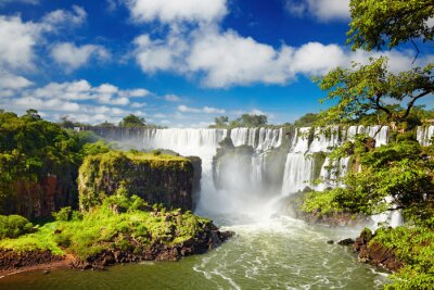 Plakat Iguassu Falls, widok od strony argentyńskiej