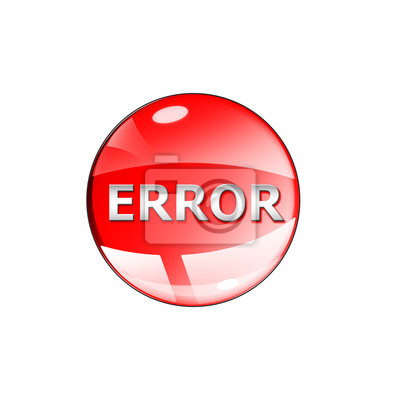 ikona błędu na białym tle