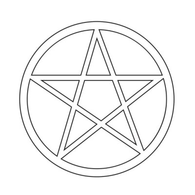 Plakat ikona Pentagram