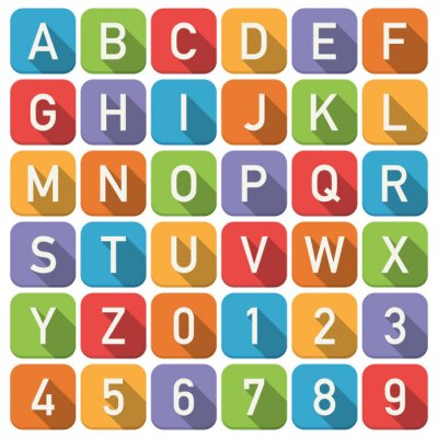 Plakat Ikony alfabet