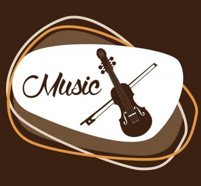 Plakat Ikony muzyki projektowania