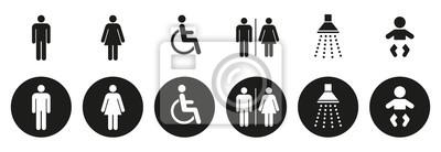 Plakat Ikony sanitarne