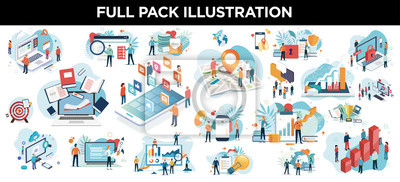 Plakat illustration business