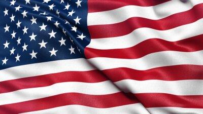 Plakat Illustration of the USA national flag