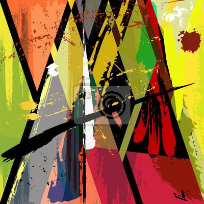 Plakat Ilustracja abstrakcyjna tła z malowania kresek
