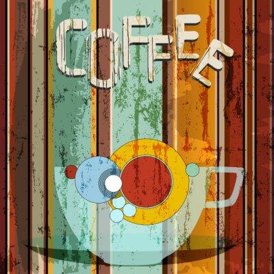 Plakat Ilustracja kawy, projektowania menu / reklama, kopia wolna przestrzeń