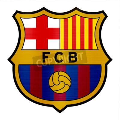 Plakat ilustracja metalicznej logo barcelona