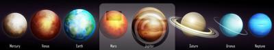 Plakat Ilustracja wektorowa planet Układu Słonecznego