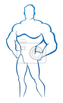 Ilustracji wektorowych z mężczyzną mięśni - Kulturysta