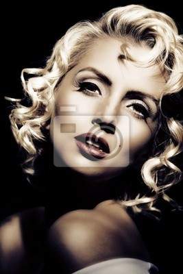 Plakat Imitacja Marilyn Monroe. Retro styl